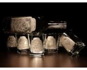Pohárová súprava na Whisky - fľaša + pohár 250 ml / 6ks+1ks