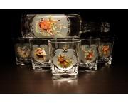 Pohárová súprava na Whisky - fľaša + pohár 250 ml / 1+6ks